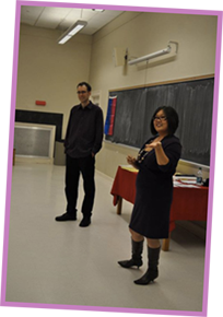 Bisexual workshop: KaeLyn and Marshall presenting the Bi Popular Demand program