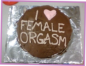 I Heart Female Orgasm cake