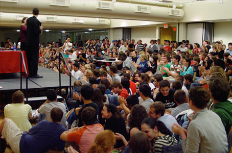 Standing room only at Cornell University